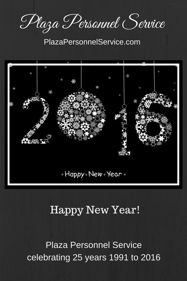 Happy New Year 2016 Plaza Personnel Service