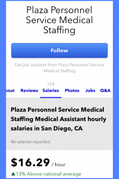 Plaza Personnel Medical Assistant pay rates on Indeed 3-18