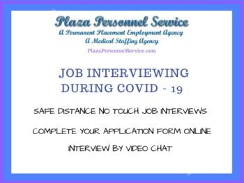 medical staffing agency San Diego, CA job interviewing during covid-19